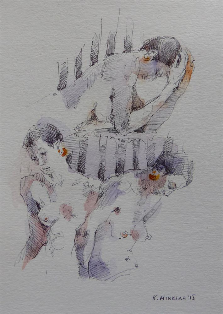 """sketchbook#4"" original fine art by Katya Minkina"
