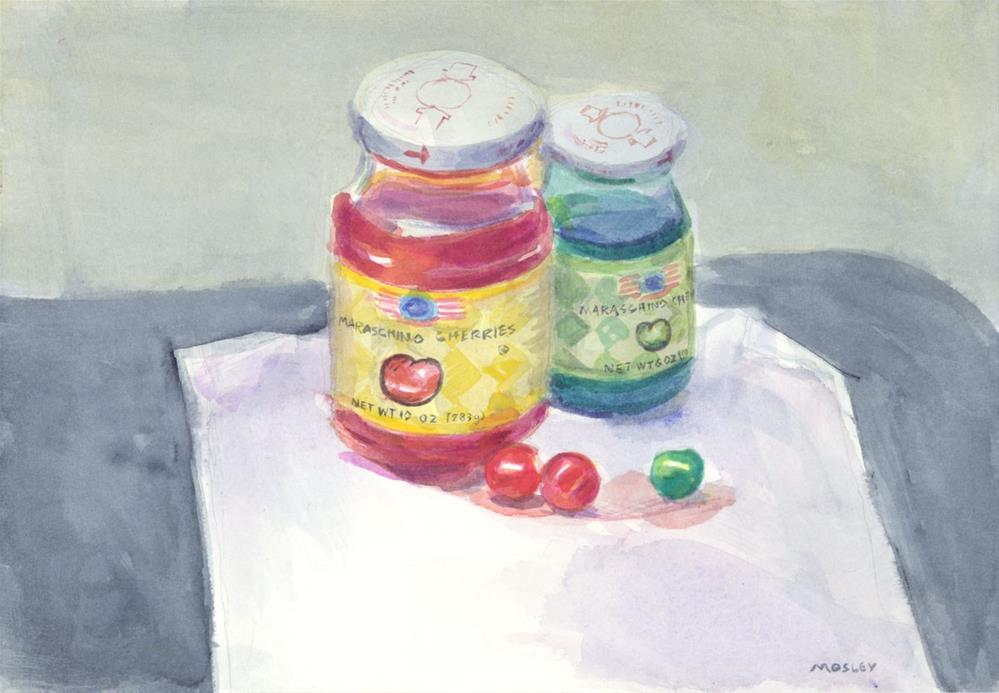 """Maraschino Cherries"" original fine art by Walter Lynn Mosley"