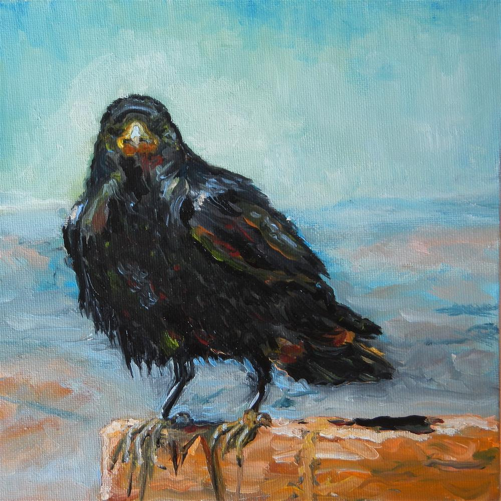 """The Raven"" original fine art by Tess Lehman"