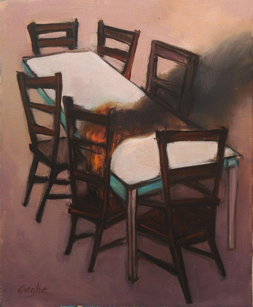 """Burning Chair"" original fine art by Angela Ooghe"
