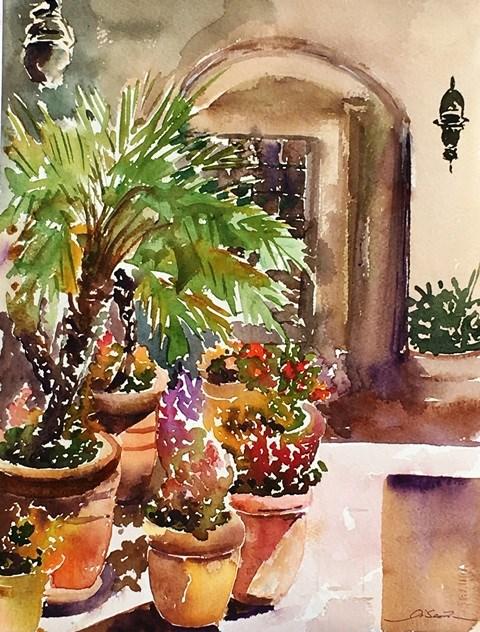 """South Coast Winery"" original fine art by Lisa Fu"