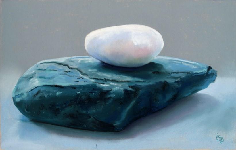 """""""My windowsill rocks"""" original fine art by Ria Hills"""
