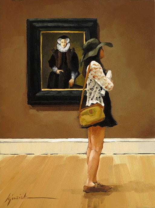 """White Collar"" original fine art by Karin Jurick"
