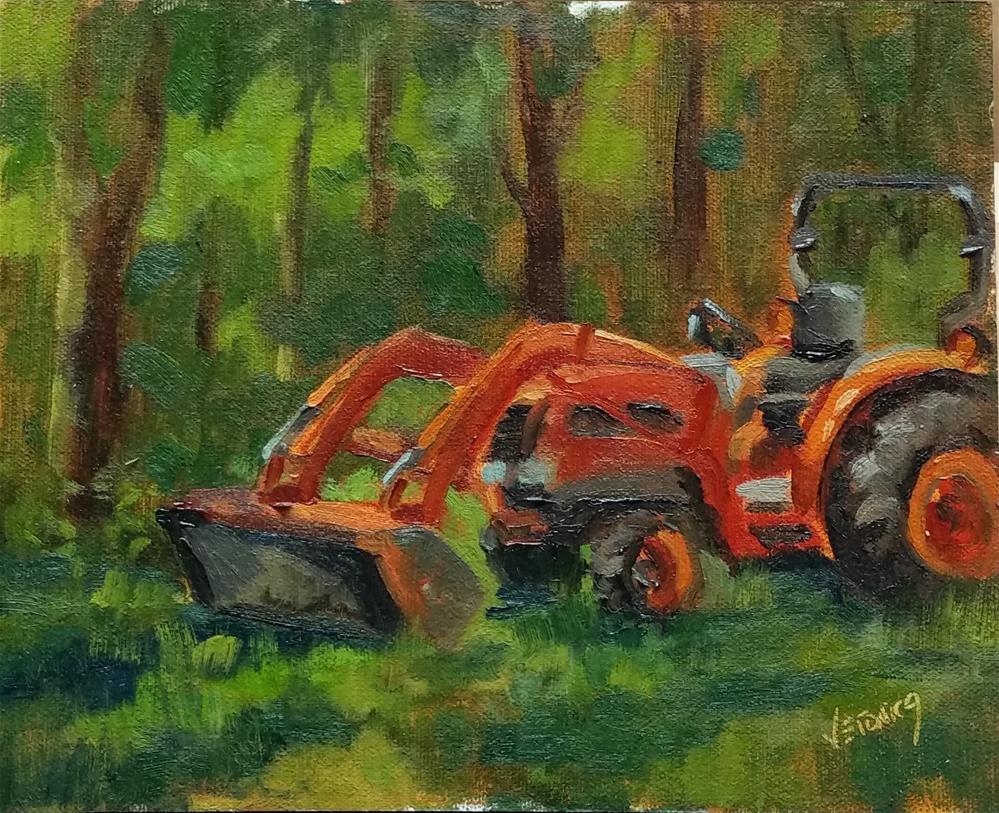 """Mr Wilsons Kubota"" original fine art by Veronica Brown"