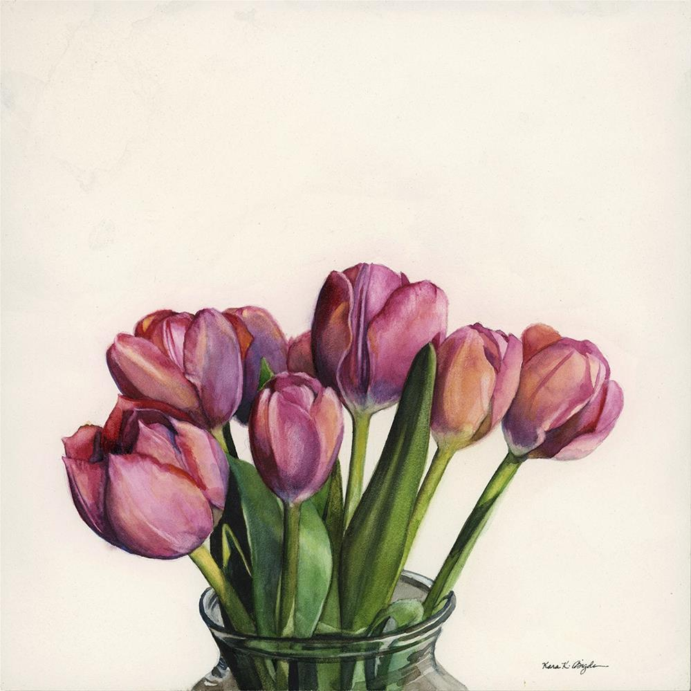 """Hallie's Tulips"" original fine art by Kara K. Bigda"