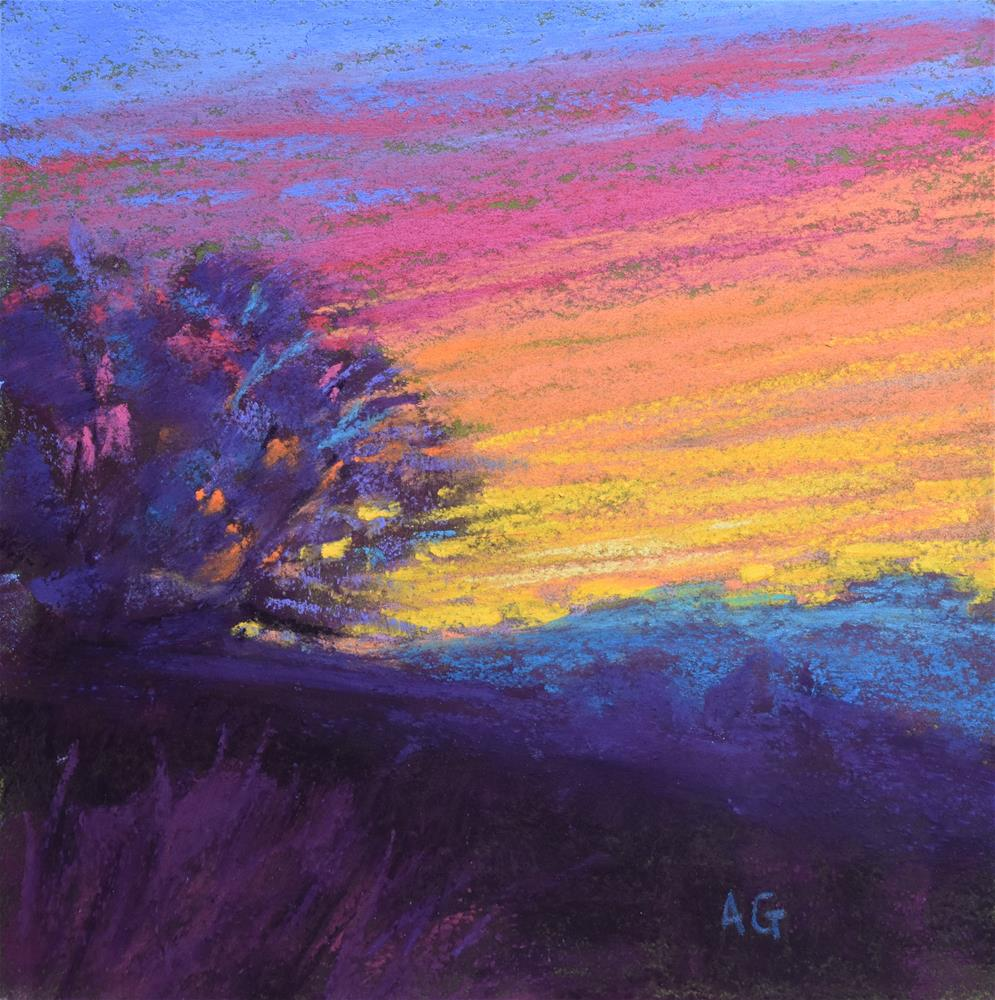 """Small pastel 5x5 inches"" original fine art by Alejandra Gos"