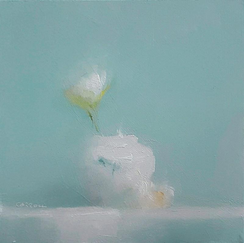 """""""Rose in Prussian Blue"""" original fine art by Neil Carroll"""