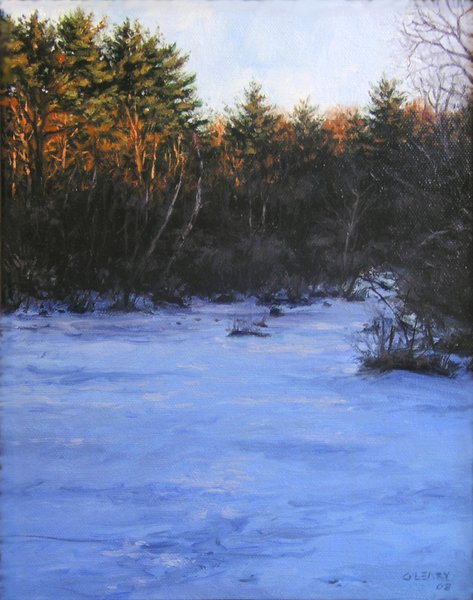 """""""Evening Inlet"""" original fine art by Danny O'Leary"""