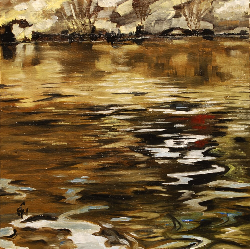 """River Reflections"" original fine art by Gary Westlake"
