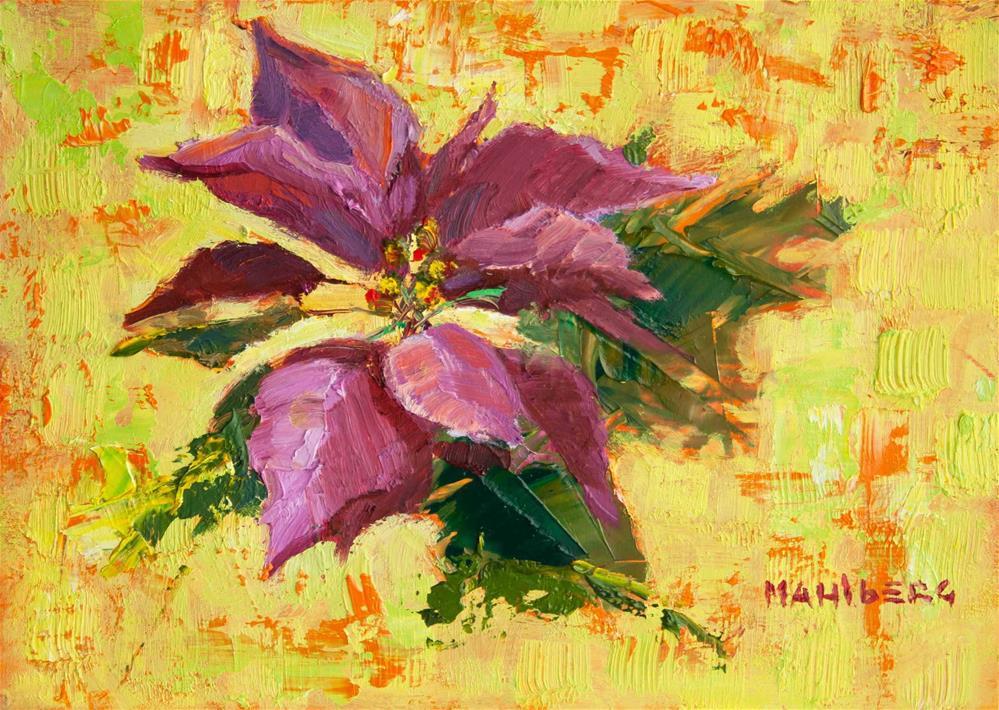 """Poinsettia Lime"" original fine art by Cynthia Mahlberg"
