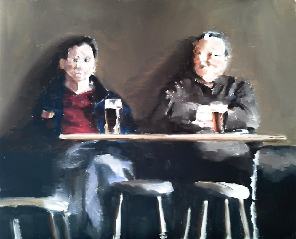 """The Drinkers"" original fine art by James Coates"
