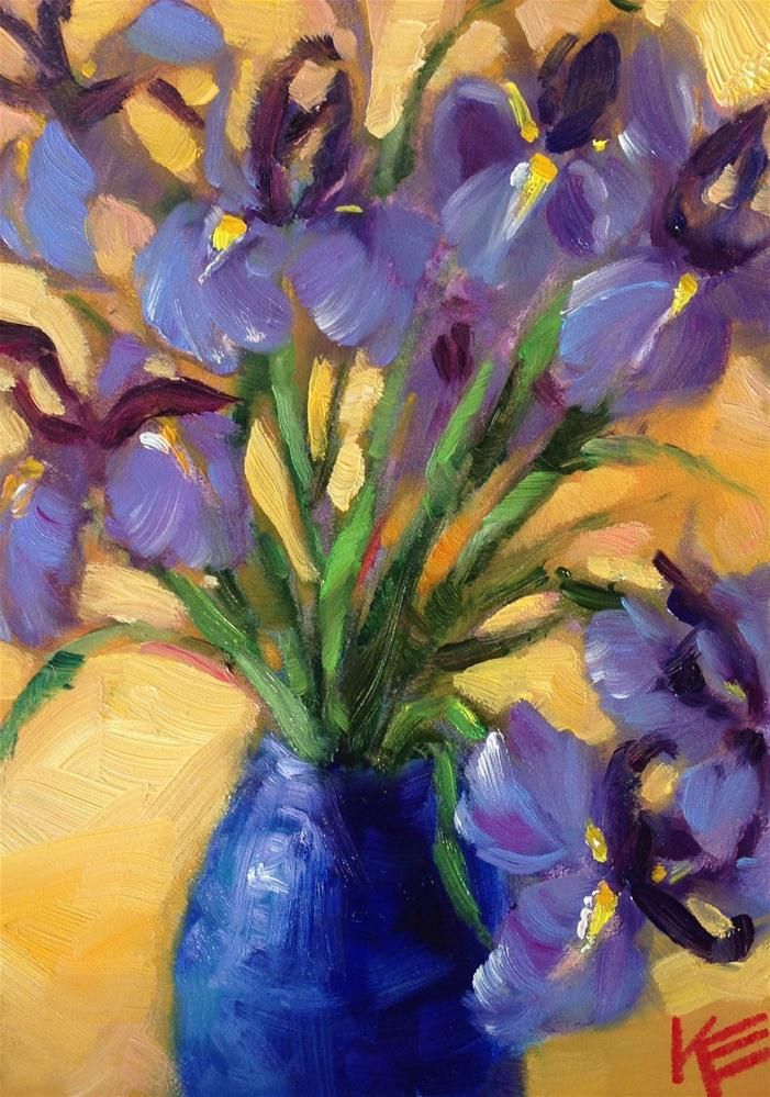 """Irises"" original fine art by Krista Eaton"