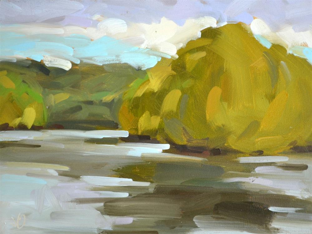 """""""Peaceful River"""" original fine art by Jessica Green"""