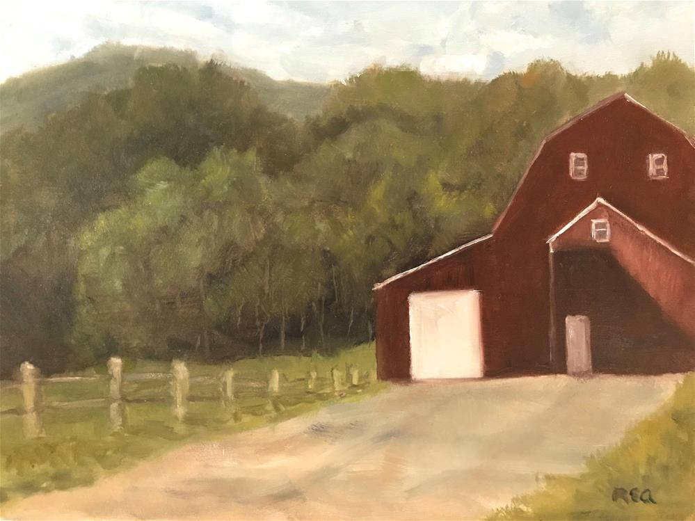 """it once was our barn"" original fine art by Betty Argiros"
