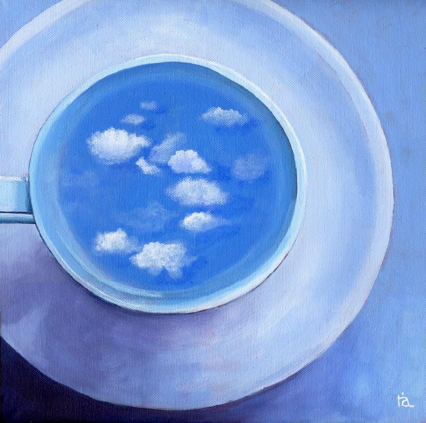 """""""clouds in coffee #4"""" original fine art by Ria Hills"""