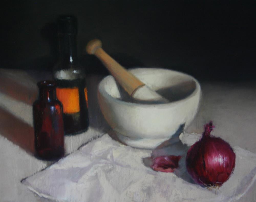 """Pestle and Mortar"" original fine art by Liz Balkwill"