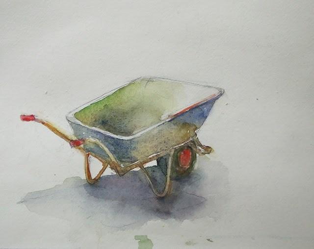 """Too hot to work - study of Charles Reid"" original fine art by Mitsuru Cope"