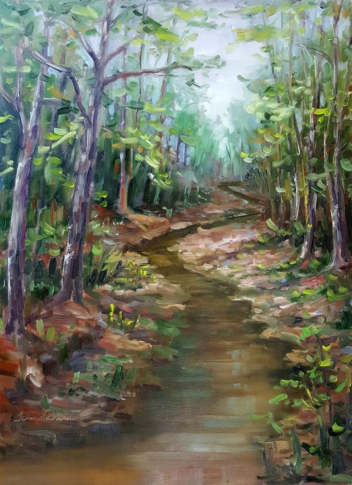 """Creekside Sycamores"" original fine art by Tammie Dickerson"