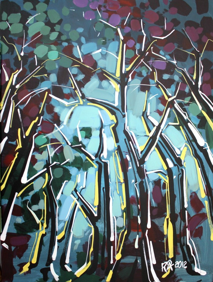 """""""Tree abstraction 7"""" original fine art by Roger Akesson"""