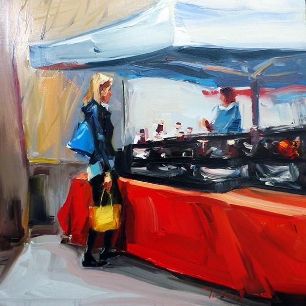 """""""Am Markt"""" original fine art by Jurij Frey"""