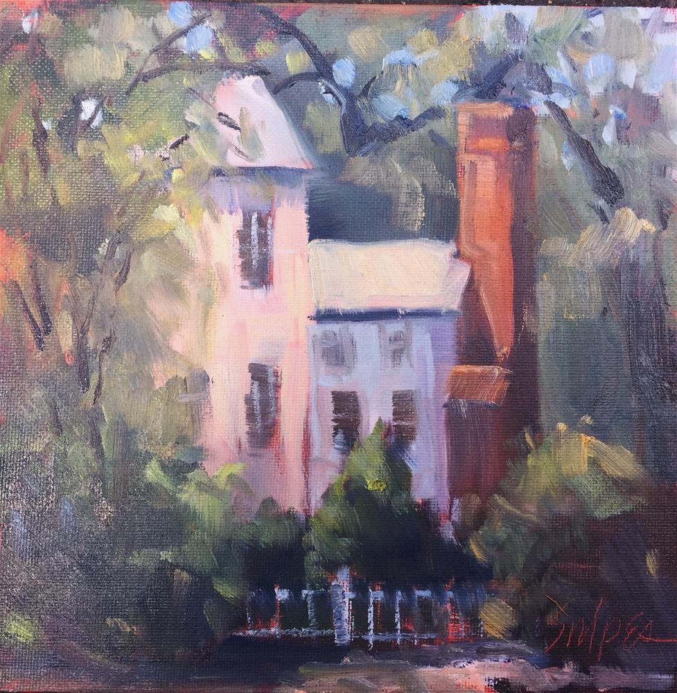 """""""Summer Day in the Neighborhood"""" original fine art by Connie Snipes"""