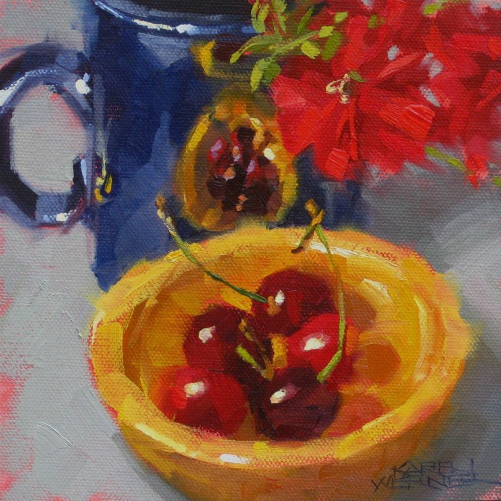 """""""Primaries"""" original fine art by Karen Werner"""
