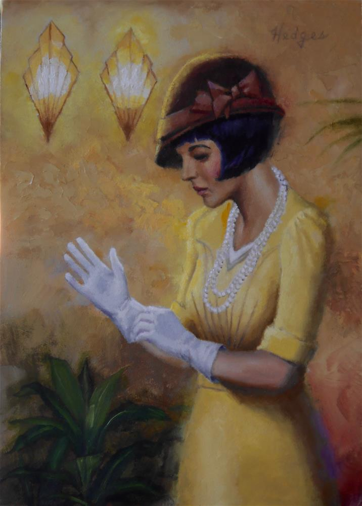 """White Gloves"" original fine art by Bruce Hedges"