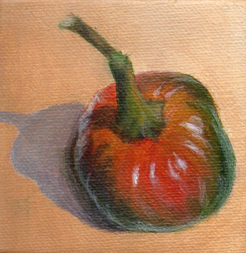 """Pick a Pepper"" original fine art by Debbie Shirley"
