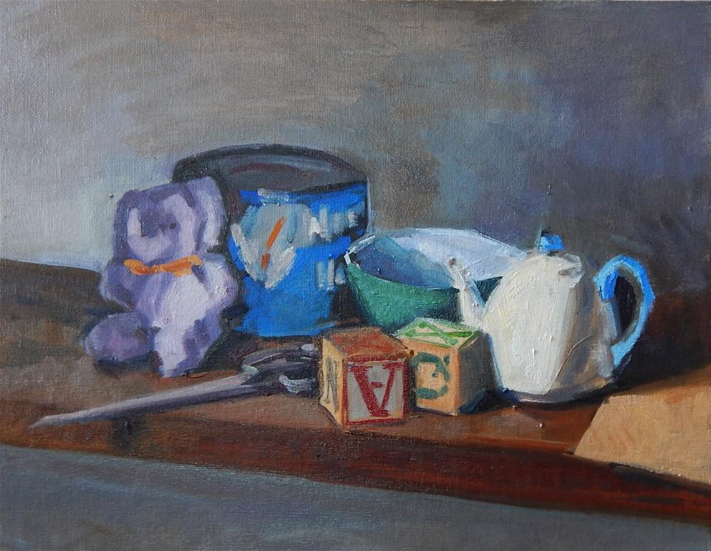 """Shelf Still Life"" original fine art by Megan Schembre"
