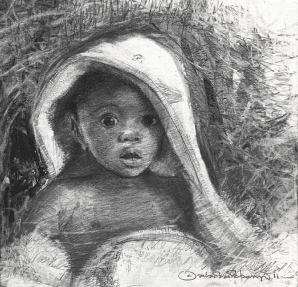 """Sparkle II"" original fine art by Adebanji Alade"