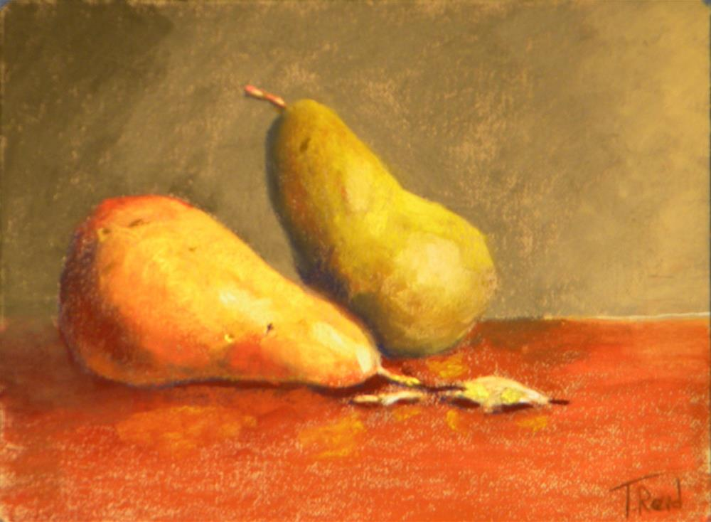 """Two pears"" original fine art by Toby Reid"