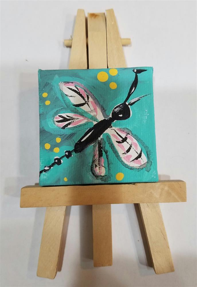"""Itty Bitty Dragonfly #652"" original fine art by Terri Einer"
