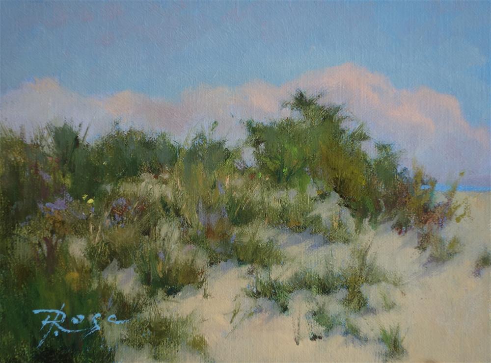 """""""Beach 3 / 4 PM"""" original fine art by Howard Rose"""