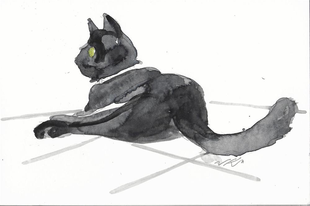 """Daily Cat 48"" original fine art by Jean Krueger"