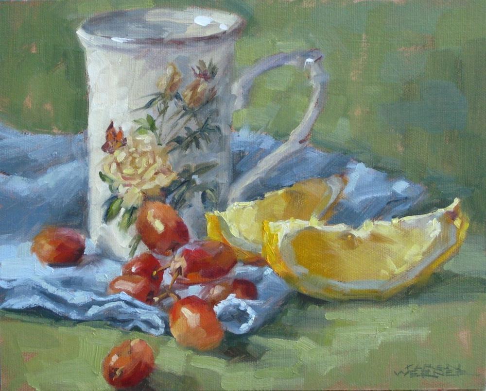 """Lemon Light"" original fine art by Karen Werner"