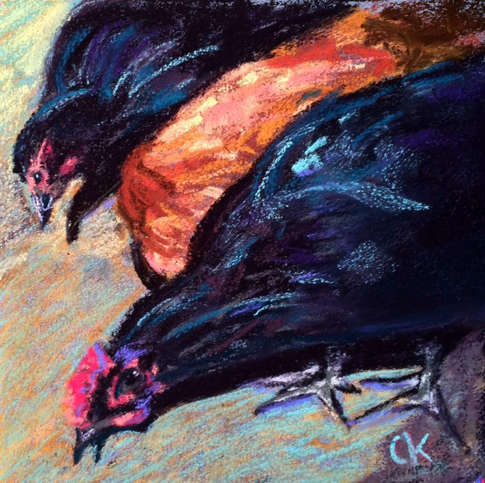 """Black is Beautiful"" original fine art by Cristine Kossow"