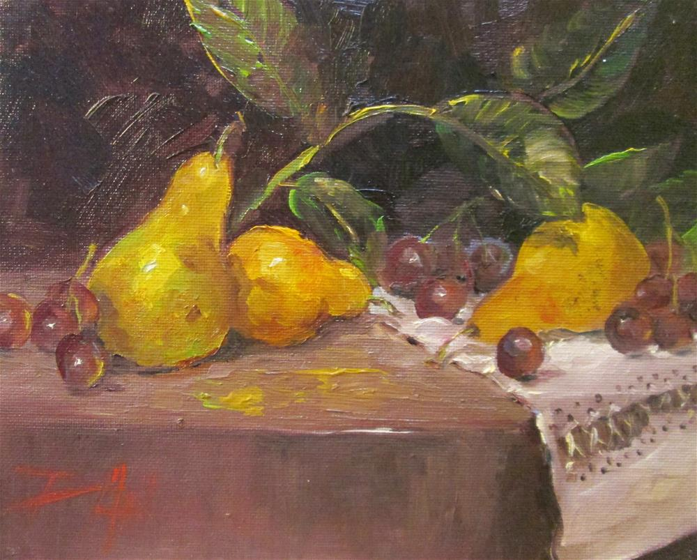 """Still Life with Pears"" original fine art by Delilah Smith"