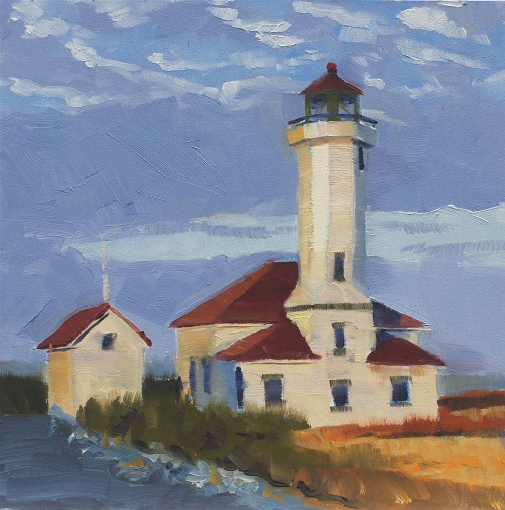 """Lighthouse at Fort Warden"" original fine art by Susan McManamen"