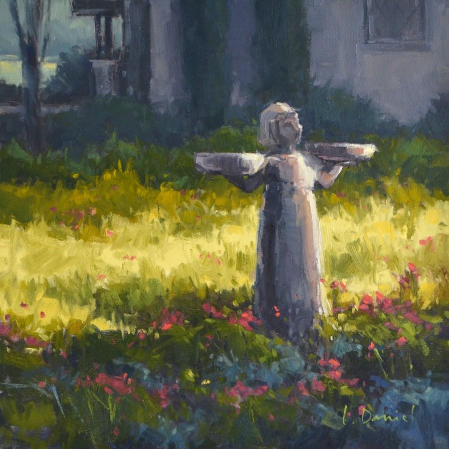 """Garden Girl and Show Tip #16"" original fine art by Laurel Daniel"
