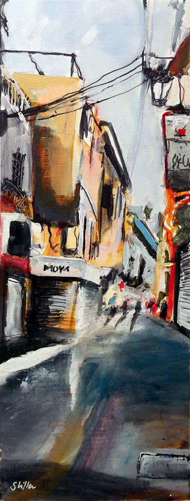 """2396 Palma Streetview 4"" original fine art by Dietmar Stiller"