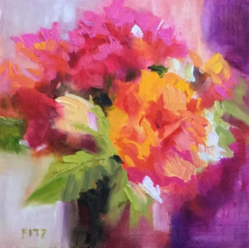 """""""Warm and Cool Contrasts"""" original fine art by Charlotte Fitzgerald"""