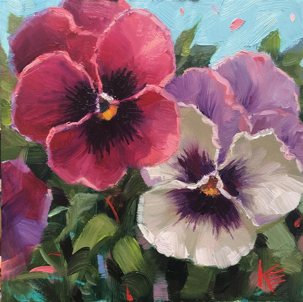 """Pansy Delight"" original fine art by Krista Eaton"