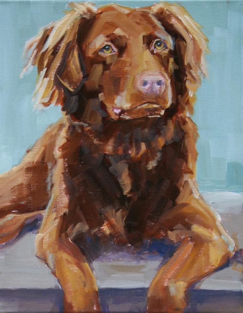"""Hershey"" original fine art by Carol Carmichael"
