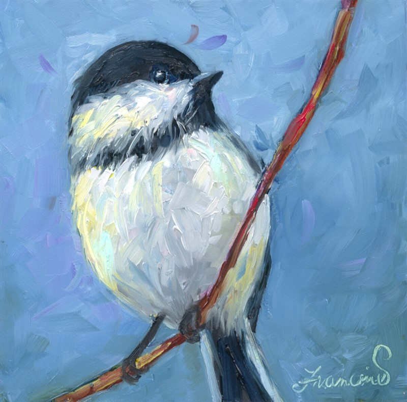 """All Twitter Pated"" original fine art by Francine Dufour~Jones"