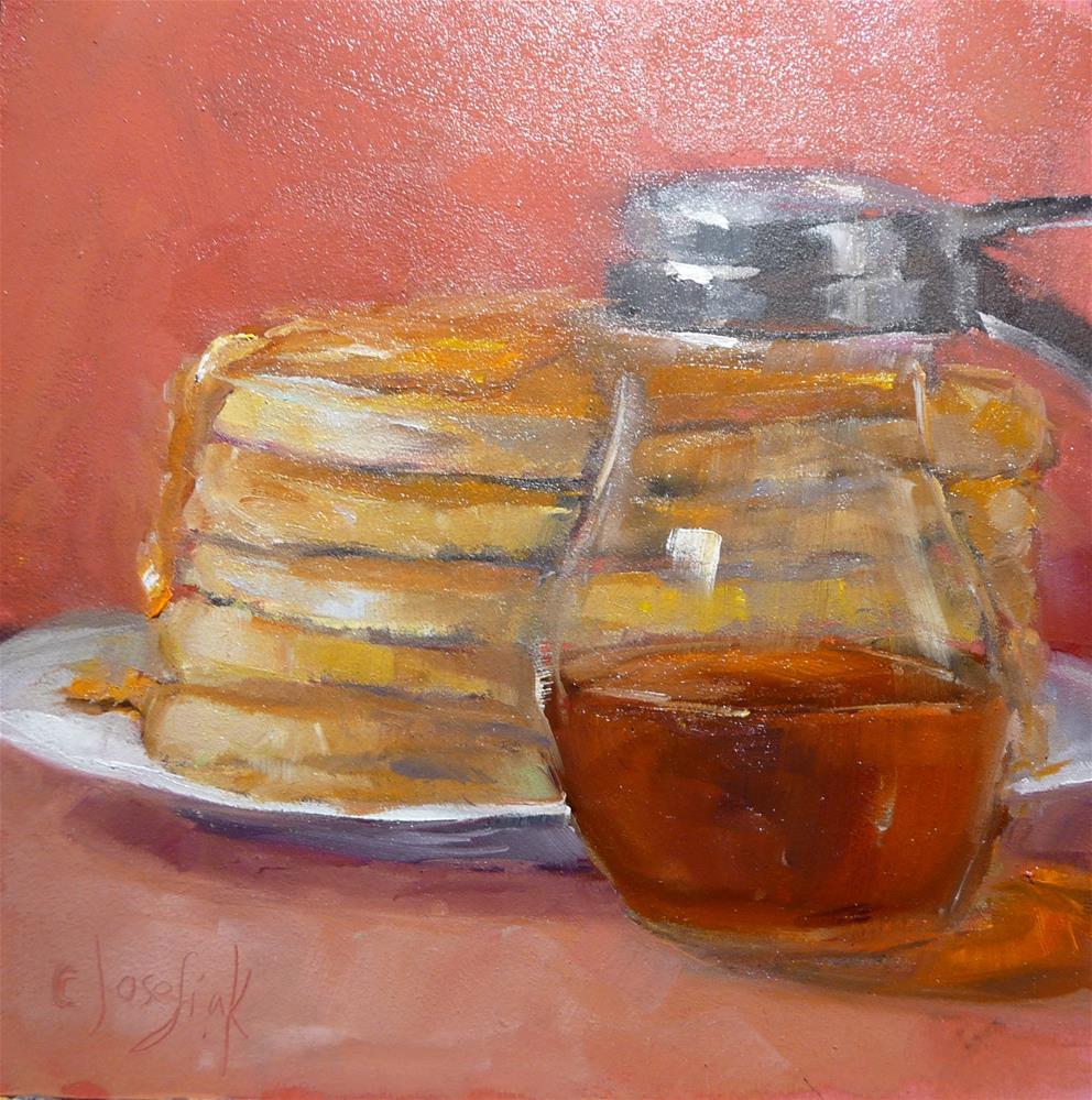 """Stacked"" original fine art by Carol Josefiak"