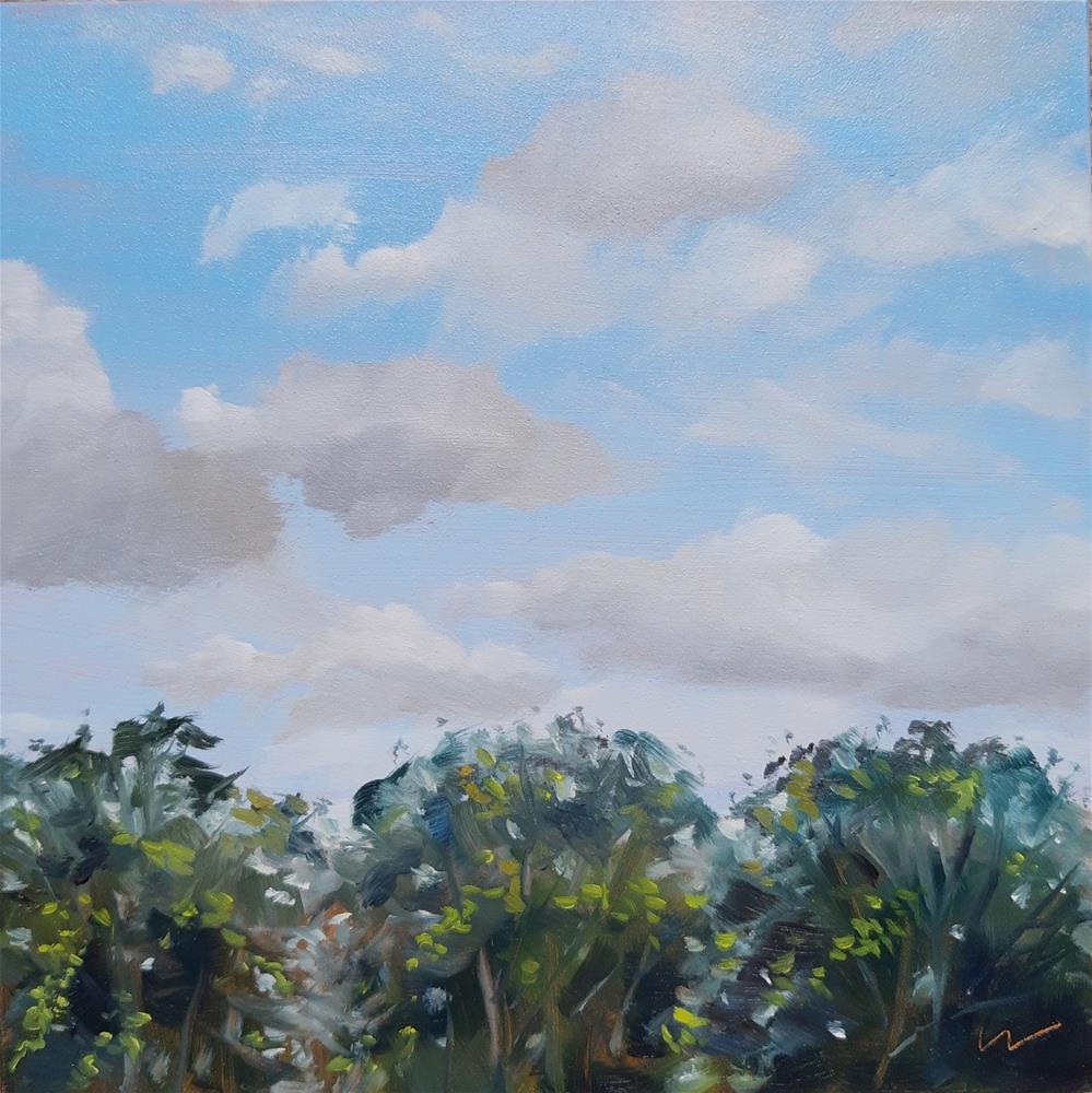 """Three Trees"" original fine art by Wolfango Chiappella"