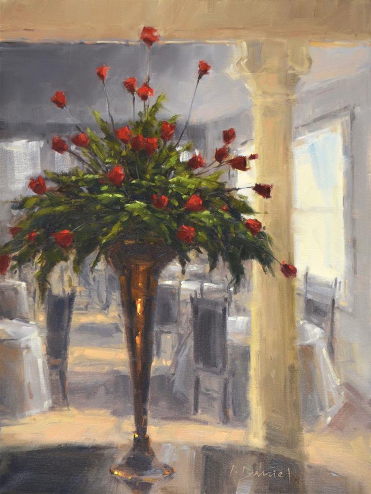 """Dinner and Roses - Show Tip #7"" original fine art by Laurel Daniel"