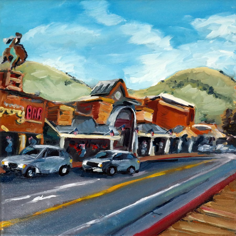 """0832 Cowboy Bar"" original fine art by Dietmar Stiller"