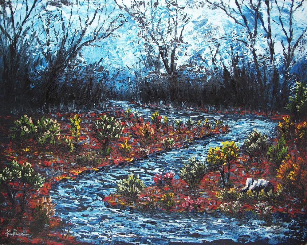 """Evening Stream"" original fine art by Ken Fraser"