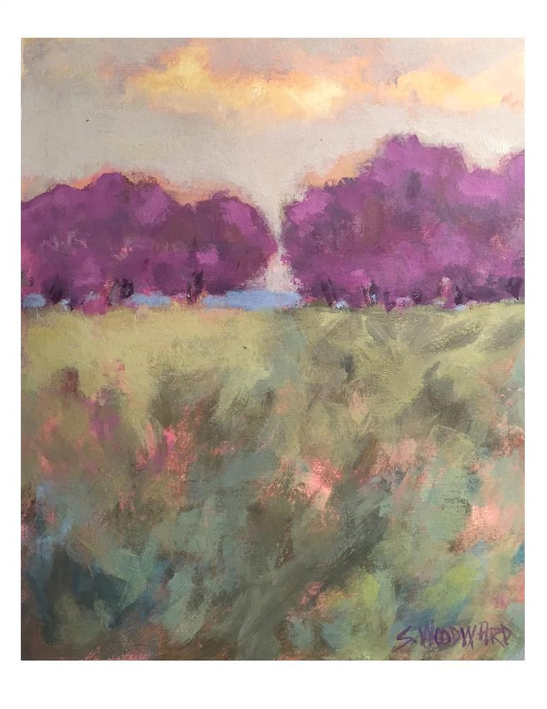 """Lavendar Trees"" original fine art by Suzanne Woodward"